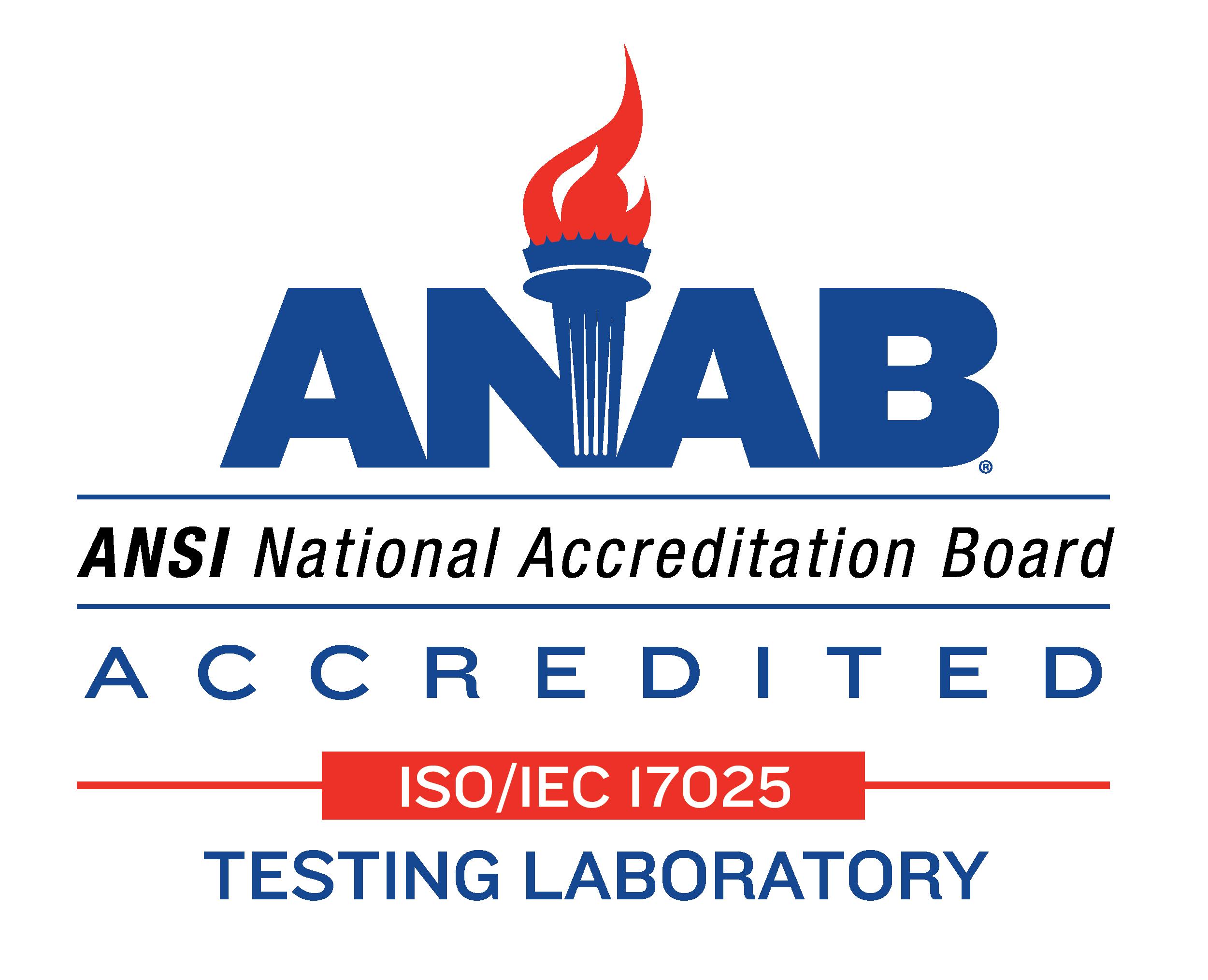 anab ISO/IEC 17025 testing Laboratory